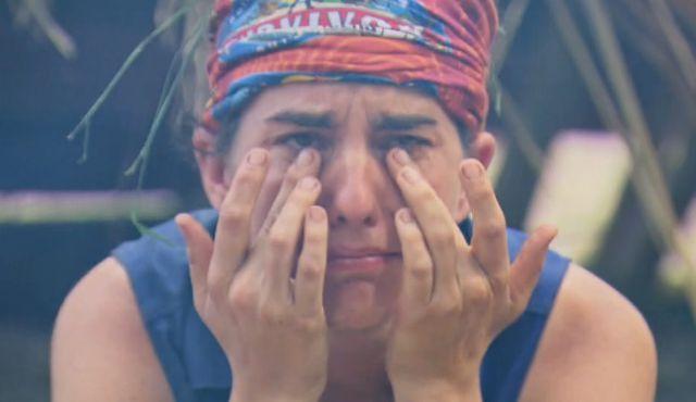 Aubry Bracco tears up on Survivor 2017