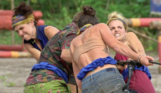 Survivor castaways struggle in the latest challenge on Game Changers