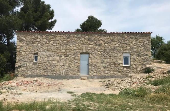 Rural stone house