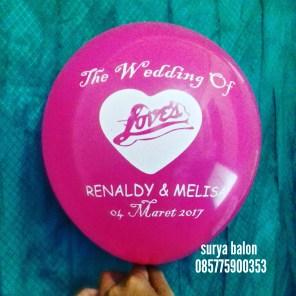 balon sablon wedding