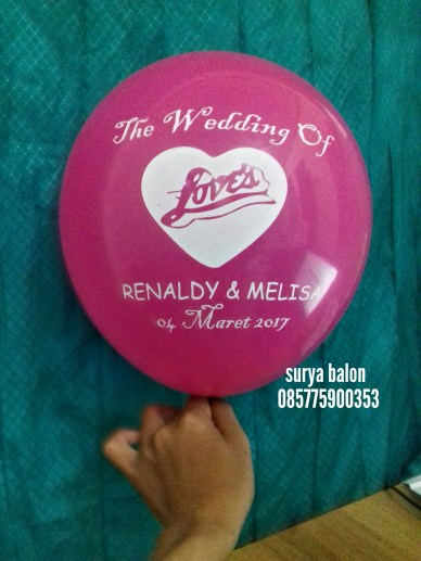 balon sablon wedding