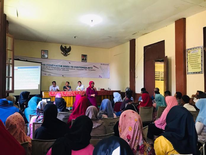 Kegiatan sosialisasi BPJS Keshatan Cabang Tanjungpinang di Puskesmas Penuba, Desa Penuba, Kecataman Selayar, Kabupaten Lingga (Dok BPJS Tanjungpinang)