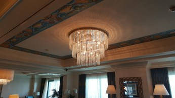 The living room chandelier