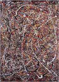 The work that Teri Horton says was made by Jackson Pollock. She bought the painting for $5 in a thrift shop in the early 1990s and now says she will not sell it for less than $50 million.