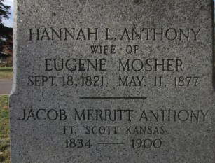 Tomb, Tomb of Hannah Anthony Mosher