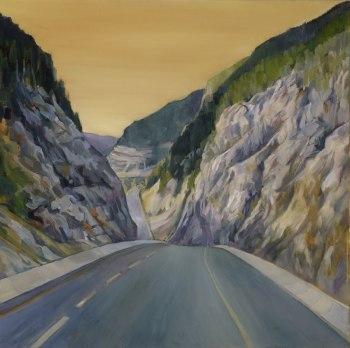 "PASSAGES 2, 20""x20"", oil on canvas"