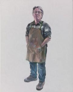 "BRYN prop maker, 30""x24"" oil on canvas"