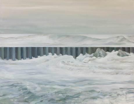 """Susan Benson, RCA """"Barrier"""" 2014 Oil on canvas 58.88 x 71.12 cm"""