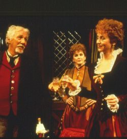 THE MERRY WIVES OF WINDSOR, Stratford Festival, 1995, Mistress Page & Mistress Ford with Falstaff