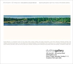 Duthie Gallery, SSI, April 1- an exhbition of my latest landscapes.