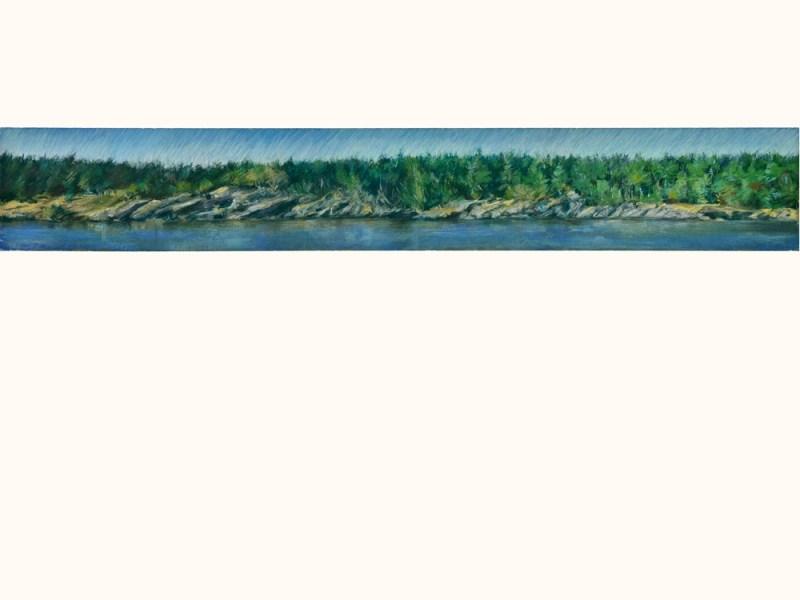 SALTSPRING ISLAND COAST 2016, 22.5x30 pastels on Arches Paper