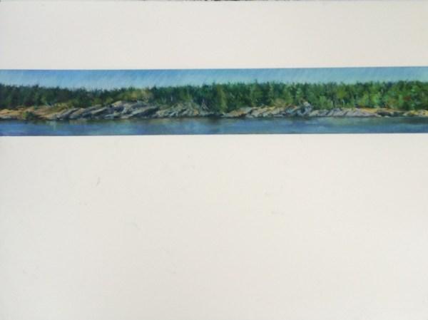 Salt Spring Island Coast, 22.5x30 pastels on Arches Paper