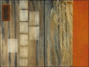 "THE WORLD THROUGH FOG(diptych) 36"" X 48"" oil on birch panel $900"