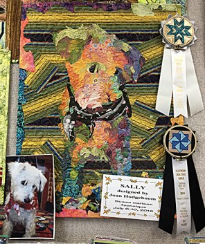 Joan's portrait of her pup Sally, a sibling of our family dog, Kali!