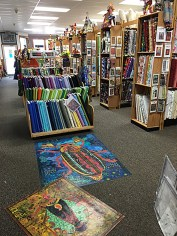 Classroom view of the Quilt Gallery's stash.