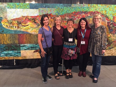 My mostly Canadian buddies (Suzanne, Barb, Marnie, and Donna) that I usually only get to see in California at Empty Spools Seminars held at Asilomar State Park, and here they are in Texas!