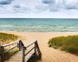 Lake MI beach