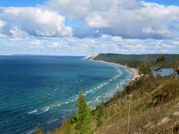 Lake MI from hill (2)