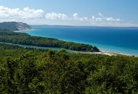 Lake MI from hill (3)