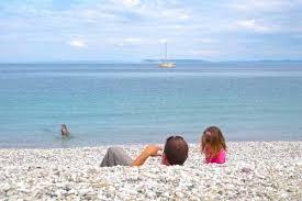 Lake MI sun bathing