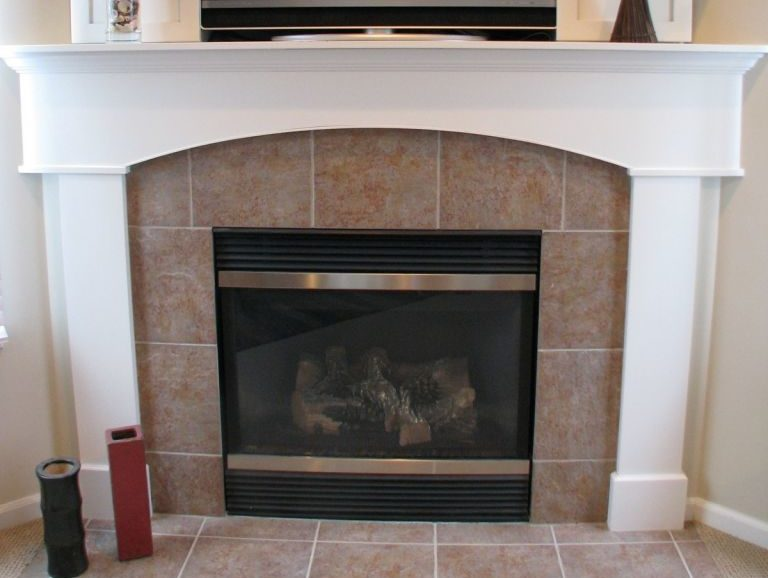 Living Room Fireplace at Sawgrass Condos in Holland, MI