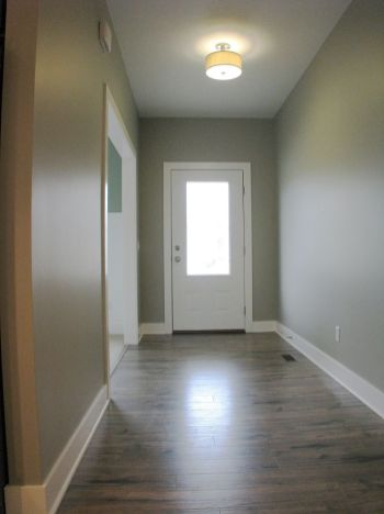 Front Foyer hall with laminate floor.