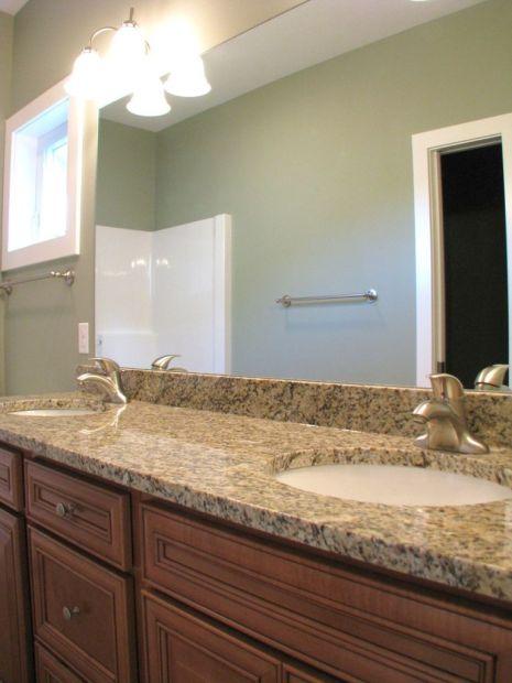 Main level master bath. Granite vanity counter.