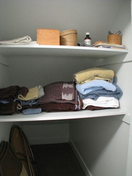 Shelves built in closet
