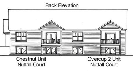 Back elevation of Reversed Overcup 2 Unit