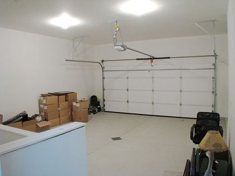 Interior of the finished 2-stall attached garage