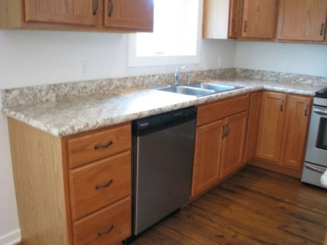 2444 cabinets with formica counter, dishwasher