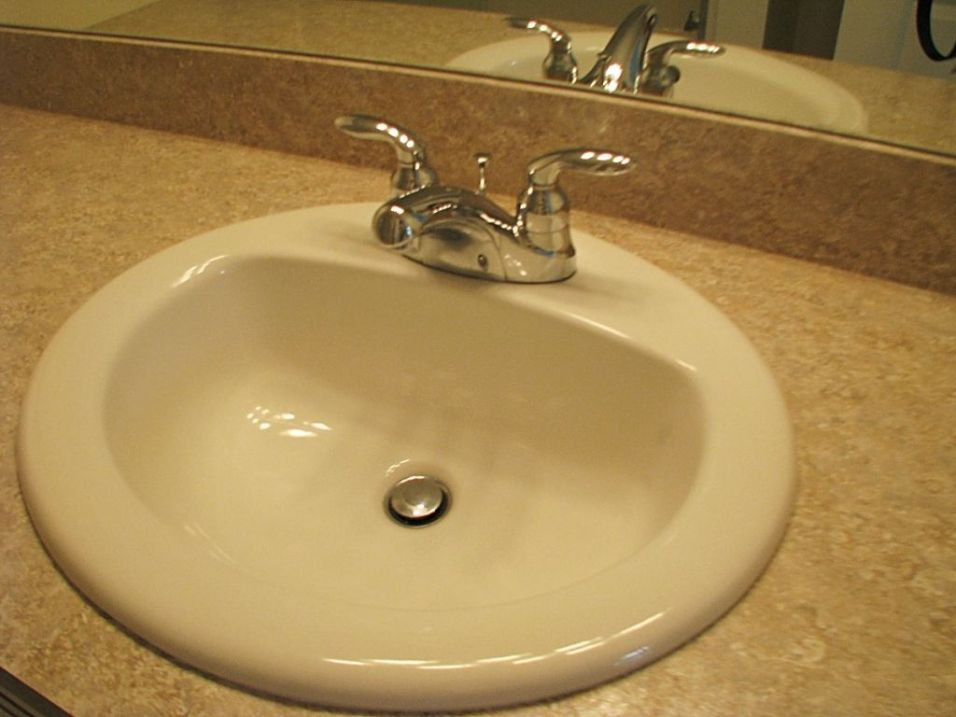 2430 Master bath sink and faucet