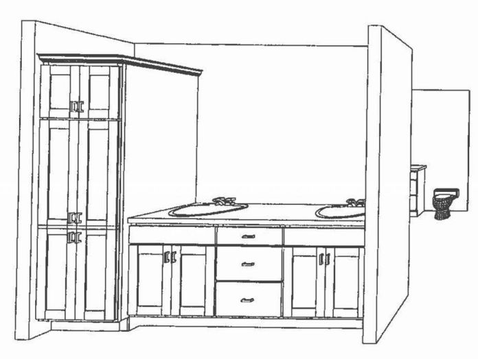 2444 Artists drawing of the master bath