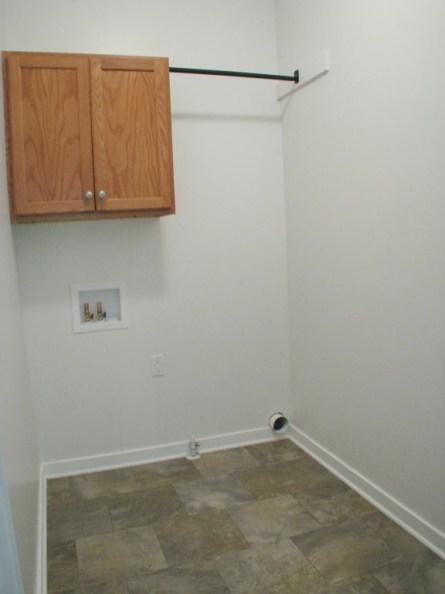 2444 Laundry with vinyl floor