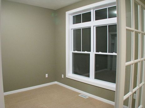 Windows in front office.
