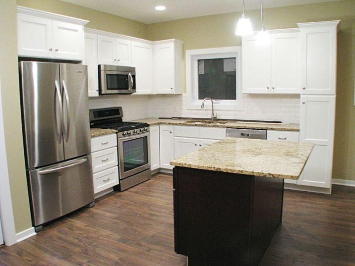 Center island in the kitchen.