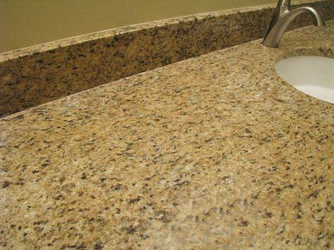counter on master bath vanity.