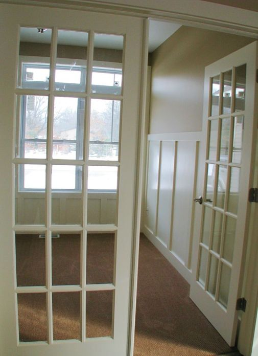2515 Office with glass panel doors