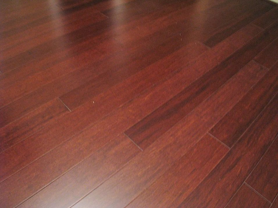 2437 Laminate wood floor in front hall and kitchen