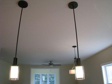 2502 Kitchen hanging lights over center island