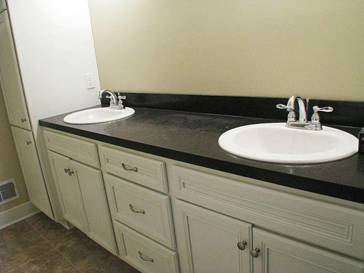 2502 double sink vanity in master bath