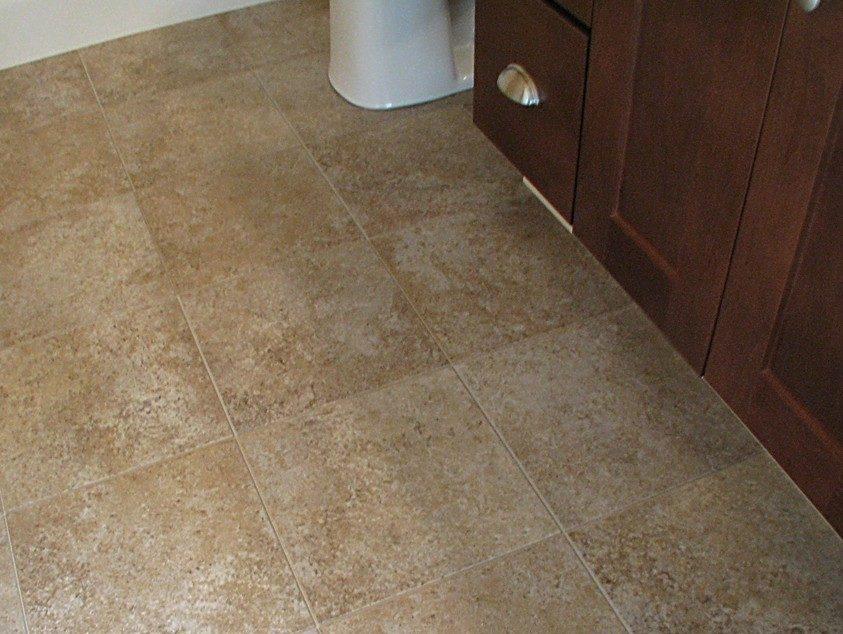 Bathroom Flooring at Sawgrass Condos in Holland, MI