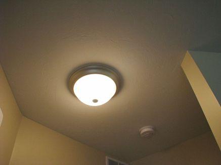 2502 Sample of standard light fixture in hall