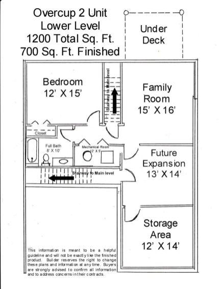 2502 Lower level floor plan