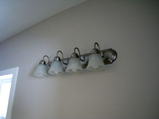 2415 Master bath lights over vanity