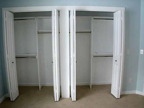 2518 Master bedroom closets with orgainzers