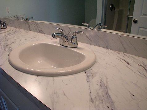2518 Laminate counter on master bath vanity