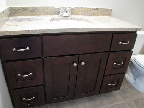 2415Vanity in lower level full bath