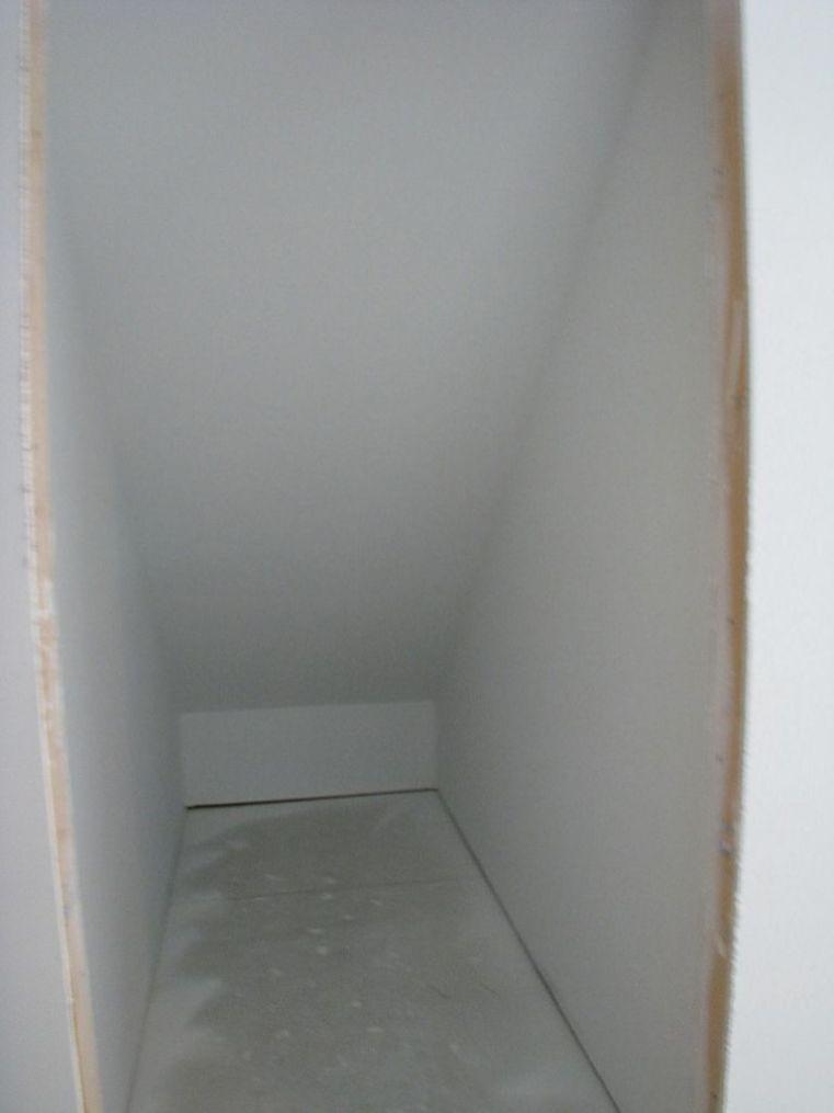 2518 Lower level half finished storage closet under the stairway