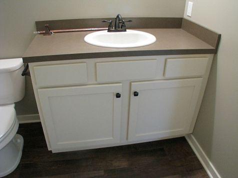 Lower full bath vanity.